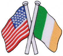 United States of America USA & Ireland Friendship Embroidered Patch A200